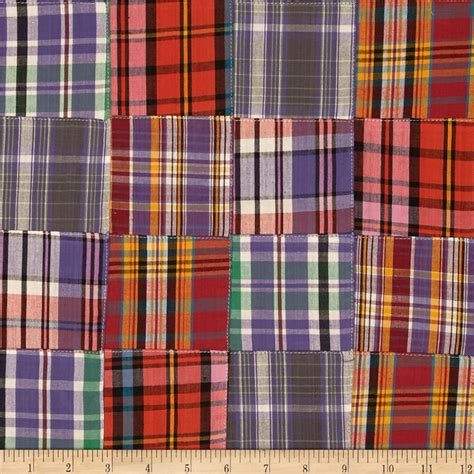 Plaid Patchwork Fabric - kaufman nantucket patchwork plaid discount