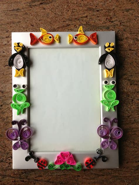 How To Make Paper Quilling Frames - shweta s paper quilling quilled photo frame