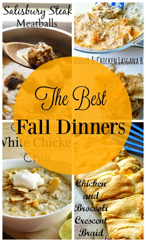 the best fall dinners