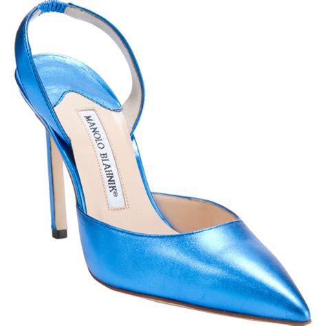 Carolyne by Manolo Blahnik Carolyne In Blue Lyst