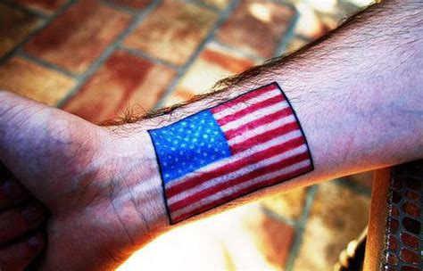 american flag wrist tattoo flag tattoos and designs page 11