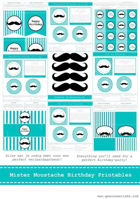 free printable mustache party decorations free moustache party printables kids ideas pinterest