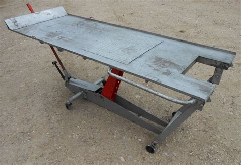 hydraulic work bench ex military heavy duty 500kg hydraulic motorcycle bike