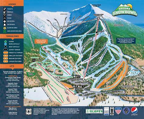 map of ski resorts in usa arizona snow bowl piste maps