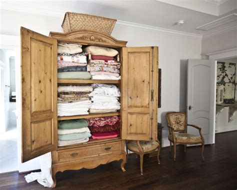 linen armoire storage where how to store your linens ideas inspiration