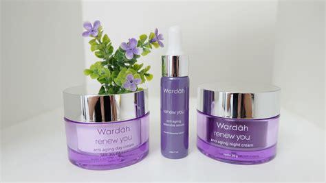 wardah renew  anti aging intensive serum beauty product