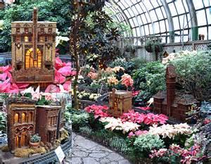 winter flower train garden lincoln park conservatory
