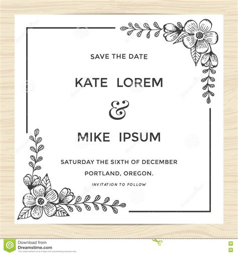 Minimal Wedding Anniversary Cards Templates Vector save the date wedding invitation card template with