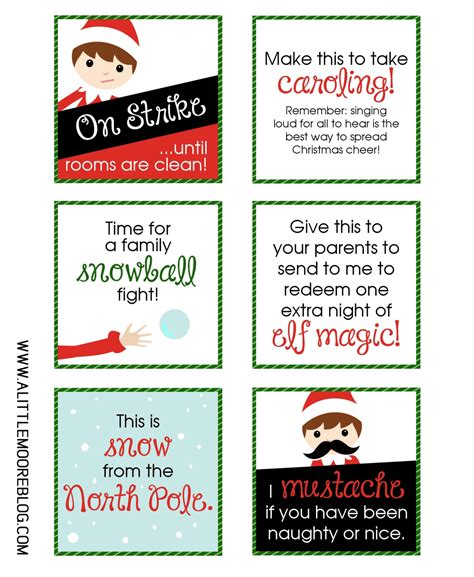 printable elf signs printable elf notes a little moore