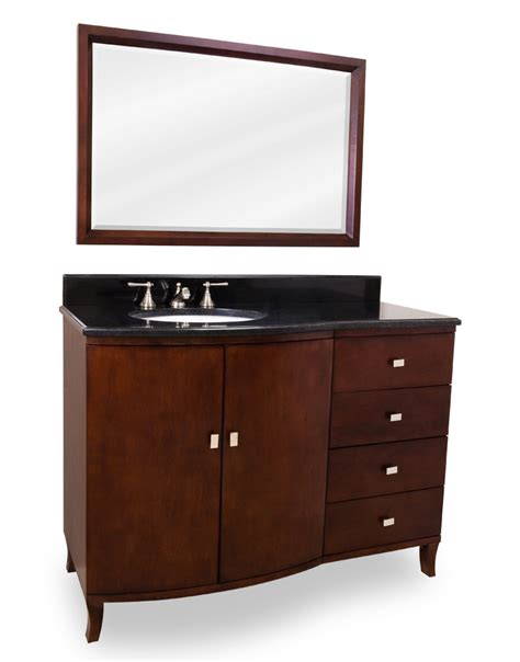 47 quot mahogany bathroom vanity single sink cabinet