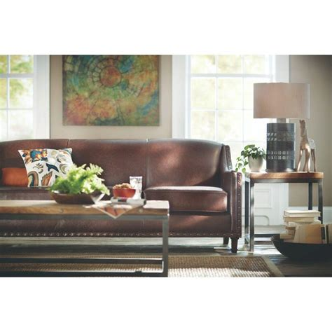 home decorators sofa home decorators collection rockford brown leather sofa