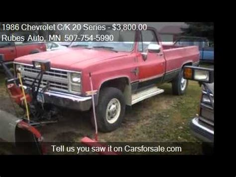 chevrolet ck  series plow truck  sale  mora