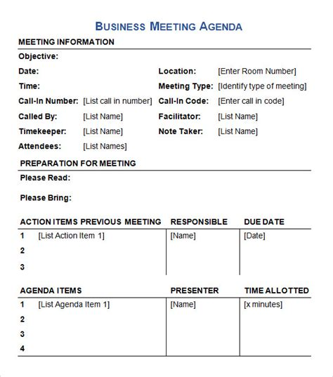 agenda document templates instathreds co