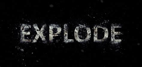 font design in photoshop tutorials how to create an exploding text effect in photoshop