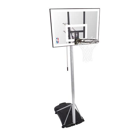 spalding basketball table spalding nba silver portable basketball system sweatband