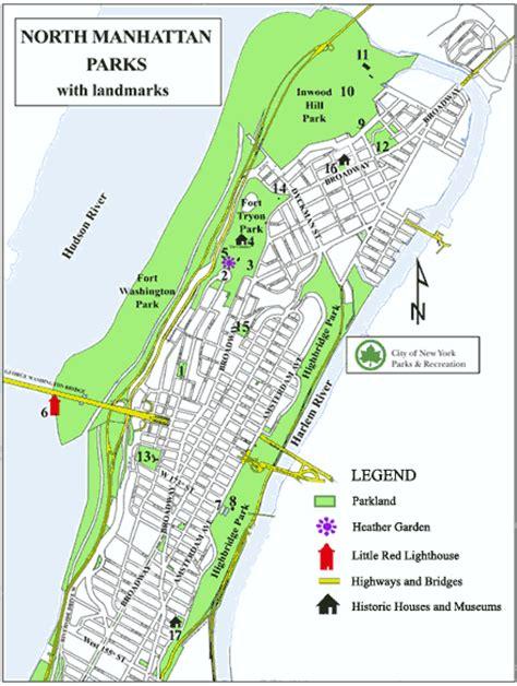 parks manhattan northern manhattan parks map nyc parks