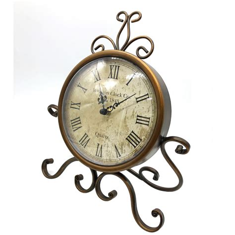 european retro vintage antique metal desk clock home decor