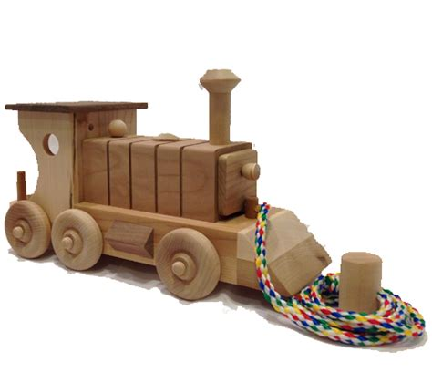 classic train engine large wooden toy train