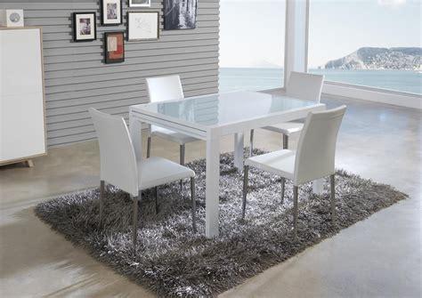 table de cuisine en verre avec rallonge acheter votre table en verre avec allonge laqu 233 e blanche