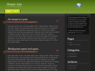 Simple Jojo Free Website Template Free Css Templates Free Css Simple Css Templates