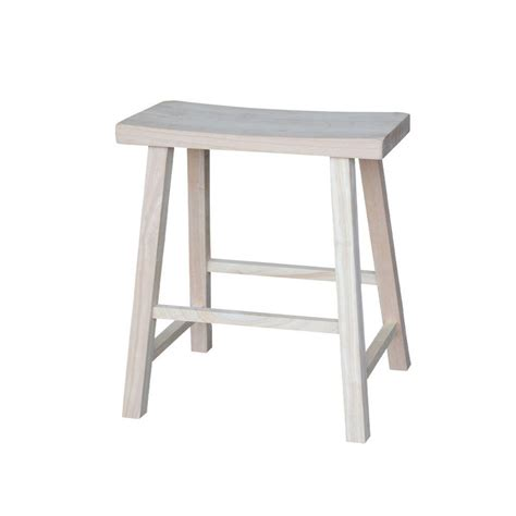 saddle seat stool 24 international concepts 24 in unfinished wood bar stool 1s