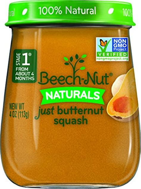 stage 1 vegetables beech nut stage 1 baby food butternut squash 4 ounce