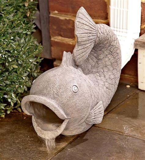 resin fish decorative gutter downspout extension water