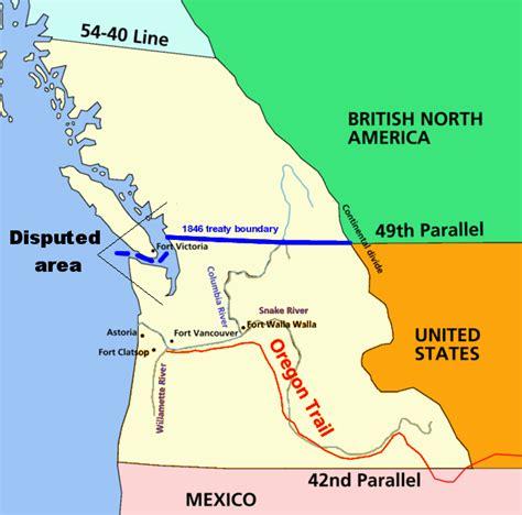 map of oregon territory 1846 mstartzman 54 40 or fight