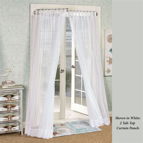 tab top sheer curtain panels emilia tab top sheer voile curtain panels