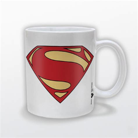 Kaos Superman Of Steel Logo 01 taza logo el hombre de acero superman of steel