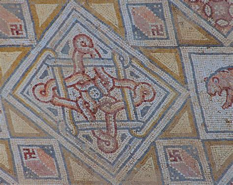 swastika mosaic at church of st george jerash 171 ufo