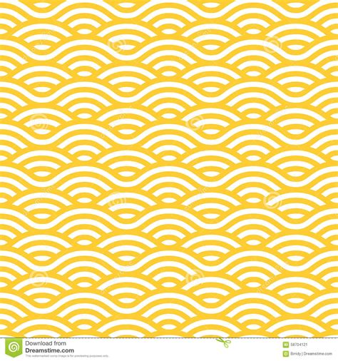 yellow pattern on white yellow and white waves seamless pattern stock vector