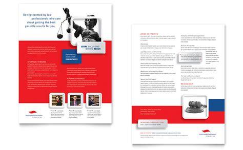 justice legal services datasheet template design