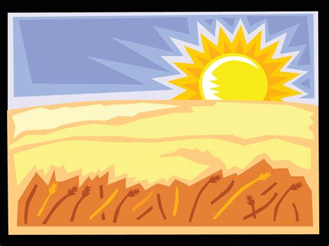 ppt themes sun the desert and the sun landscape powerpoint templates