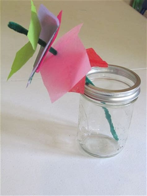 Flowers With Tissue Paper And Pipe Cleaner - simple tissue paper flowers teach preschool