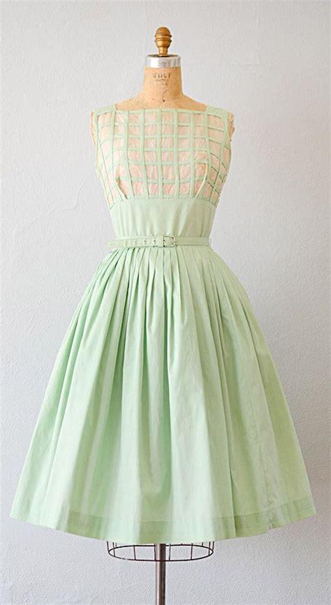vintage 1950s dress 50s dress vintage 1950s mint green