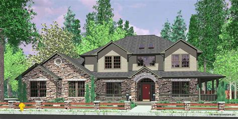 craftsman house plan wrap around porch
