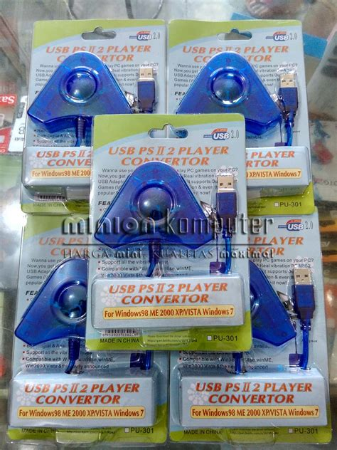 Converter Stik Gamepad Playstation To Usb 2 In jual converter gamepad stik stick ps ps2 ke usb pc