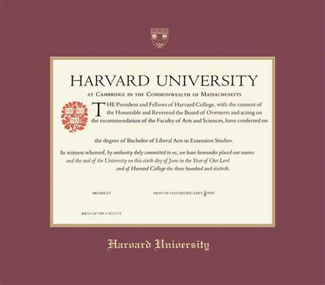 Harvard Mba Degree by Certificate Extension Certificates Templates Free