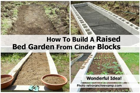 cinder block raised bed how to build a raised bed garden from cinder blocks