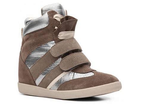 wedge sneakers dsw report cosette metallic wedge sneaker dsw