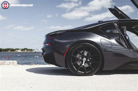 bmw i8 wheels blacked out bmw i8 with hre wheels by wheels boutique