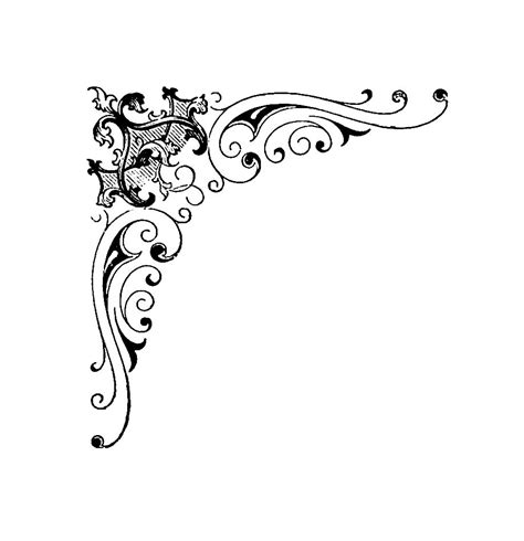 corner designs cliparts   clip art
