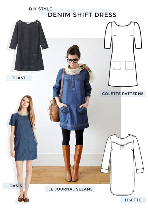 jeans dress pattern michael ann made diy style denim shift dressdenim