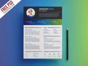 template psd creative professional resume template free psd