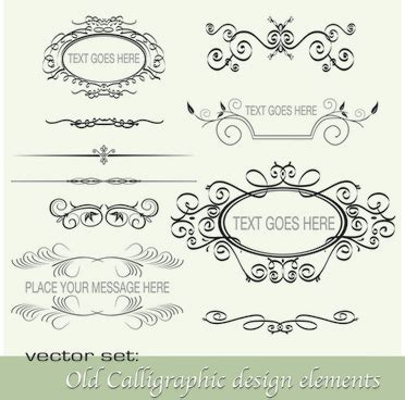 calligraphic text design elements vector calligraphic design elements free vector download 23 574