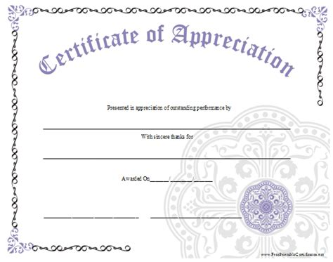 free printable certificate of appreciation template sle questions