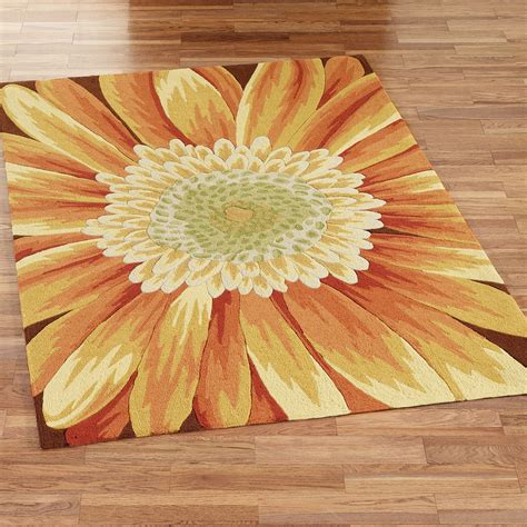 Sunflower Area Rug with Sunflower Area Rugs