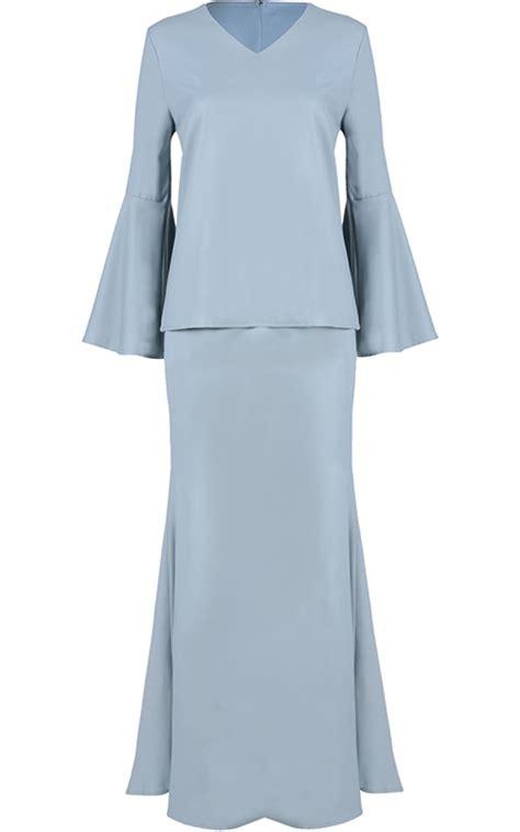 Sale Shaper Baju Shirt X43 baju kurung moden vera flared trumpet aquamarine baju kurung