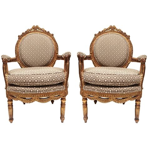 gold armchair gold gilt louis xvi roundback armchair at 1stdibs
